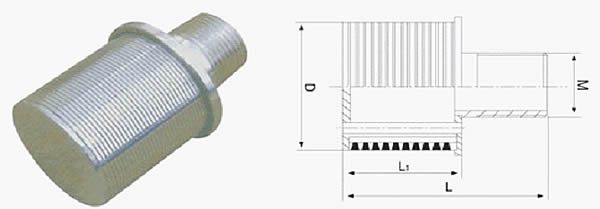 wedge wire water cap